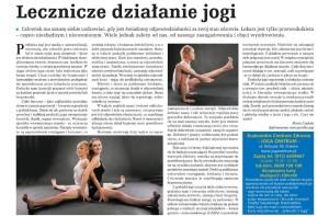 Lecznicze działanie jogi